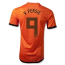 Netherlands 12/14 v. PERSIE 9 Authentic Home Soccer Jersey
