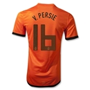 Netherlands 12/14 V. PERSIE Authentic Home Soccer Jersey