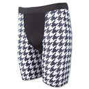 Men's Checkerboard Compression Short (Blk/Wht)