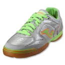 Joma Top Flex Indoor Soccer Shoes (Silver/Lime)