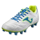 Joma Fit 100 FG Soccer Shoes (White/Vibrant Blue/Fluo Yellow)