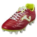 Joma Fit 100 FG Soccer Shoes (Red/White/Fluo Yellow)