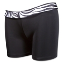 Svforza Women's Short with Zebra Waistband (Blk/Wht)