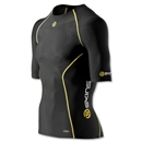 SKINS A200 SS Compression Top (Black/Yellow)