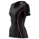 Skins A200 Women's Short Sleeve Top (Black/Pink)