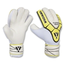 Vizari Pro Super Grip Goalkeeper Gloves (White/Yellow/Black)