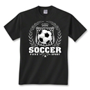 Soccer Laurel T-Shirt (Black)