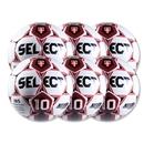 Select Numero 10 Ball-6 Pack-White/Red (Wh/Sc)