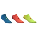 Under Armour Women's Heatgear Neon No Show Sock 3-Pack (Multi)