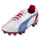 PUMA evoSpeed 5 Leather FG (White/Limoges/Ribbon Red)