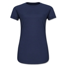 Junior Ladies 4.3 Oz Cotton T-Shirt (Navy)