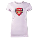 Arsenal Crest Junior Women's T-Shirt (Pink)