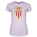 AS Monaco Junior Women's Soccer T-Shirt (Pink)