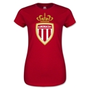 AS Monaco Junior Women's Soccer T-Shirt (Red)
