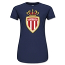 AS Monaco Junior Women's Soccer T-Shirt (Navy)