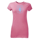 Aston Villa Crest Junior Women's T-Shirt (Pink)