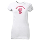 Bayern Munich Distressed Established 1900 Junior Women's T-Shirt (White)