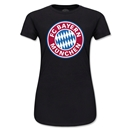 Bayern Munich Logo Junior Women's T-Shirt (Black)