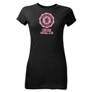 Chelsea Football Club Junior Women's T-Shirt (Black)