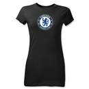 Chelsea Crest Junior Women's T-Shirt (Black)