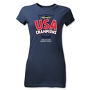 USA CONCACAF Gold Cup 2013 Champions Junior Women's T-Shirt (Navy)