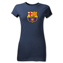 Barcelona Core Junior Women's T-Shirt (Navy)