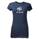 France FFF Junior Women's T-Shirt (Navy)