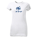 France FFF Junior Women's T-Shirt (White)