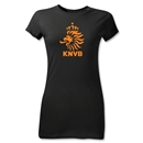 Netherlands Junior Women's T-Shirt (Black)