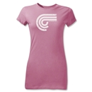 Puro Futebol Distressed Icon Junior Women's T-Shirt (Pink)