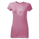 Puro Futebol Distressed Circle Junior Women's T-Shirt (Pink)