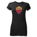 AS Roma Crest Junior Women's T-Shirt (Black)