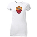 AS Roma Crest Junior Women's T-Shirt (White)