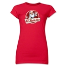 FC Santa Claus Animated Santa Jr. Women's T-Shirt (Red)
