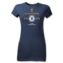 Chelsea 2013 UEL Final Junior Women's T-Shirt (Navy)