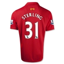 Liverpool 12/13 STERLING Home Soccer Jersey