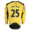 Liverpool 12/13 REINA LS Away Goalkeeper Jersey