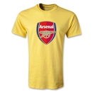 Arsenal Crest Youth T-Shirt (Yellow)