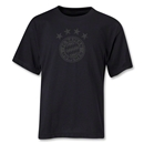Bayern Munich Team Badge Youth T-Shirt (Black)