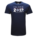 Chelsea 2012 USA Summer Tour Schedule Youth T-Shirt (Navy)
