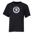 Chelsea Distressed Emblem Youth T-Shirt (Black)