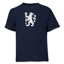 Chelsea Distressed Lion Youth T-Shirt (Navy)