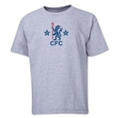 Chelsea Retro Lion Youth T-Shirt (Gray)