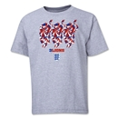 England Three Lions Youth T-Shirt (Gray)