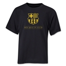 Barcelona Mes Que Un Club Youth T-Shirt (Black)