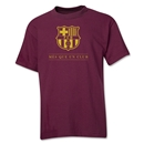 Barcelona Mes Que Un Club Youth T-Shirt (Maroon)