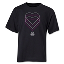 Newcastle United Heart Youth T-Shirt (Black)