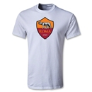 AS Roma Crest Youth T-Shirt (White)