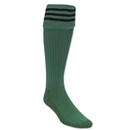 Three-Stripe Socks (Green/Black)