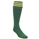 Three-Stripe Socks (Green/Yellow)